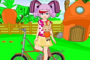 可爱单车女孩