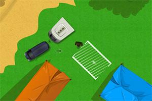 郊外露营停车