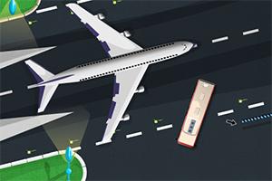 飞机场停靠大巴