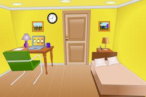 逃离简洁黄色房间