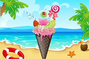 夏日酷爽冰淇淋