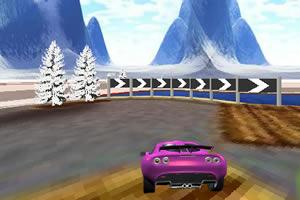 紫色跑车跑道试驾