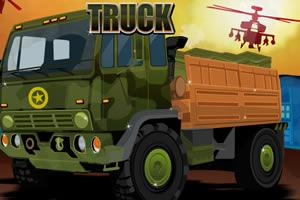 军用卡车运货