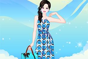 夏季时尚印花裙