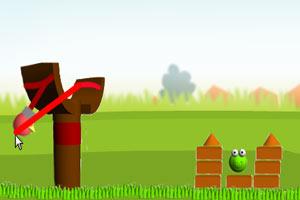 3D愤怒小鸟射绿猪