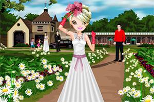 白色婚纱迷人新娘