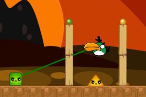 愤怒的小鸟与彩色方块选关版