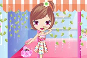 可爱糖果店女孩