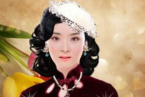 像火花像蝴蝶王艳化妆