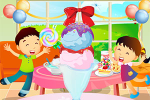 快乐的冰淇淋派对