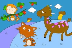 小鹿小狐与小猴