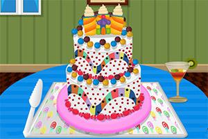 制作糖果布丁蛋糕