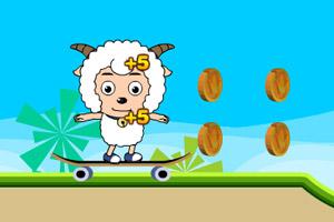 喜羊羊滑板吃金币2