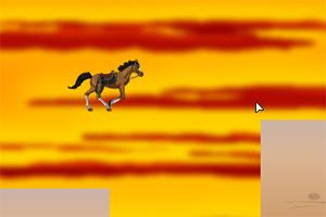 奔驰的马儿