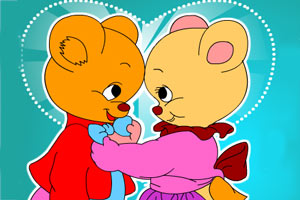 甜蜜熊情侣