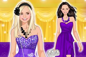 紫色时尚舞会