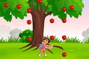 朵拉接苹果