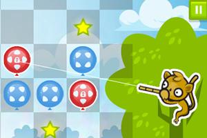 松鼠猴射气球