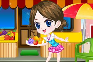 可爱水果店女孩