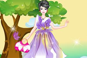 花纹式连衣裙