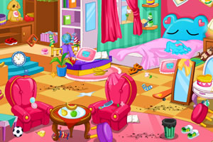 开始打扫房间