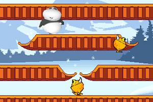 小熊打雪仗