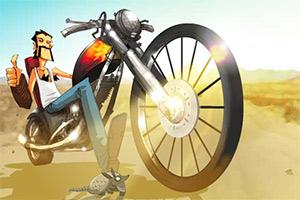 沙漠特技骑手