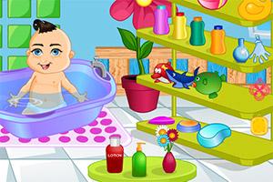 婴儿宝贝洗澡澡