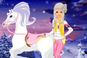 芭比娃娃的冬天小马