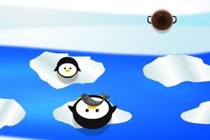冬季企鹅过河