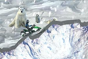 冰冷的雪地摩托