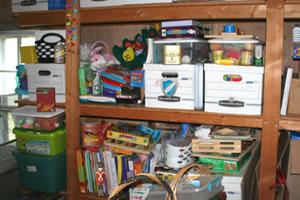 物品储藏室找东西