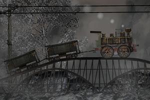 蒸汽小火车运货