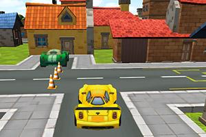 黄色小车停靠