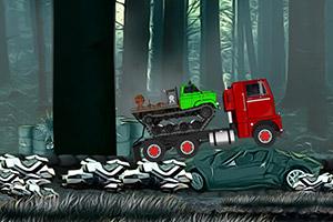 森林运输大卡车