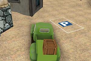 农场的绿色货车