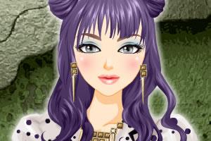 浅紫色发型