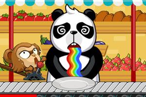 挑食的熊猫