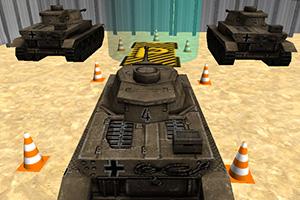 军队坦克停车