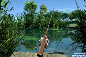 幽静湖边钓鱼