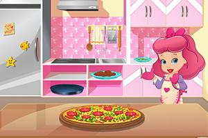 淘气宝贝制作披萨