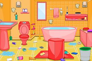 索菲亚清理浴室
