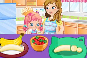 爱丽丝宝贝做蛋糕