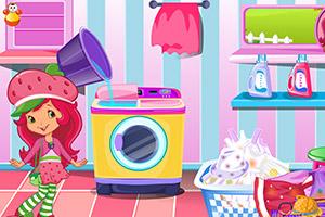 草莓公主洗衣服