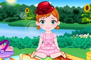 宝宝安娜去野餐