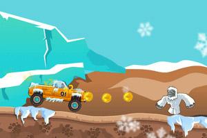 雪地汽车狂飙