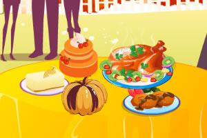准备感恩节派对