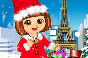 朵拉的圣诞装扮