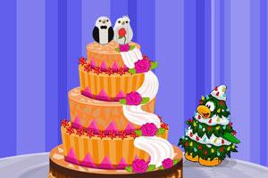 圣诞节的婚礼蛋糕