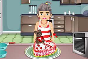 制作爱心蛋糕
